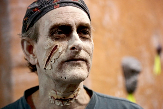 "Roger Heyen wore zombie makeup on Dec. 21, 2012 to celebrate the ""end of the world."""