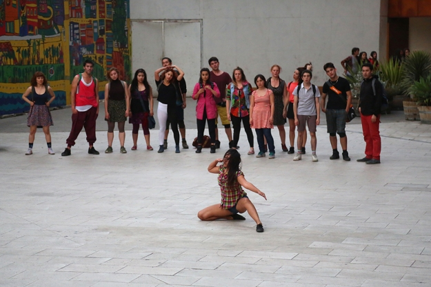 Dancers perform at Gabriela Mistral Cultural Center in Santiago, Chile on Oct. 18, 2013.