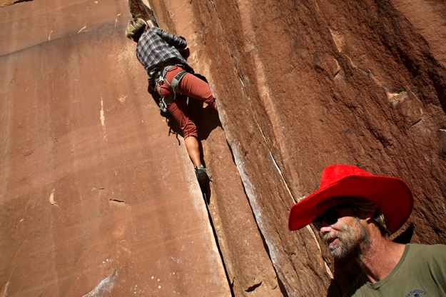 Climbing trip in Indian Creek brings people out to crush cracks and get high.