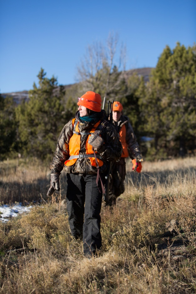 Laura Palmisano looks across the landscape while hunting on Grand Mesa.